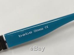 Bebe Lunettes Cadre Obsess Bleu Acier 52-16-135 Argent Cerclée Zq20