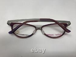 Betsy Johnson Lunettes Cadres Sassy Purple Silver 53-16-140 Full Rim Vi59