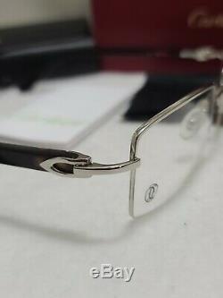 Cartier Rectangulaire Half Argent Rim Lunettes Optique