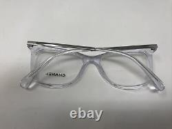 Chanel Lunettes Cadres3379 C. 660 Silver Clear 52-17-140 Italie Full Rim Ha00