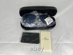 Coach Authentique Hc7077 Silver Rim & Blue Lens Aviateur Sugglasses 58mm L1015