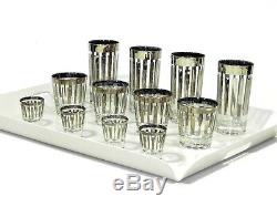 Cocktail Argent Vintage Rim Lunettes Ensemble De 12