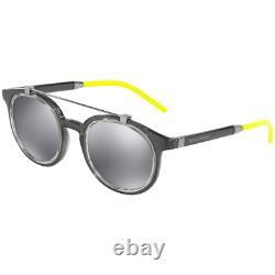 Dolce & Gabbana Dg6116 3160/6g Lunettes De Soleil Gray Silver Round Men Full Rim 140 MM
