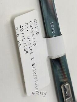 Easyclip Lunettes Cadre Avec Clip-ec190 48-16-135 Argent / Violet Cerclée Wu93