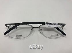 Elasta Par Safilo Lunettes Cadre E / 220 V81 56-18-145 Silver Black Half Rim 725