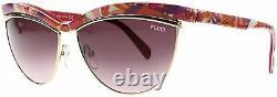 Emilio Pucci Ep 10 75y Pink Gold Plastic Cat Eye Lunettes De Soleil 61-15-135 Ep0010