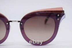 Emilio Pucci Ep 104 Violet Argent 80t Cat Lunettes De Soleil Cadre 66-15-140 Ep0104