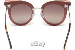 Emilio Pucci Ep 104 Violet Argent 80t Lunettes De Soleil Cat Eye Cadre 66-15-140 Ep0104