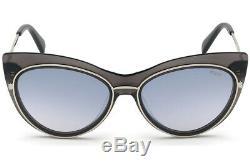Emilio Pucci Ep 108 Gris Argent 20c Lunettes De Soleil Cat Eye Cadre 57-17-145 Ep0108