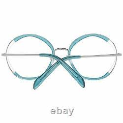 Emilio Pucci Ep 5089 Women Blue Optical Frame Plastic Full Rim Round Eyeglasses