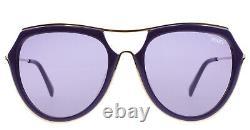 Emilio Pucci Ep16 Purple Gold Plastic Aviator Lunettes De Soleil Cadre 56-18-135 Ep0016