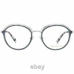 Emilio Pucci Ep5075 Femmes Cadre Optique Argent Plastique Plein Rim Rond Lunettes De Vue