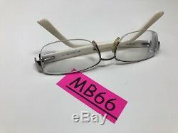 Fendi 963 Lunettes Cadre 53-16-135 Italie Blanc Argent 045 Half Rim Mb66