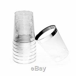 Gobelets / Tasses De Noces Jetables En Plastique Pour Argent 100 Pièces (10 Oz)