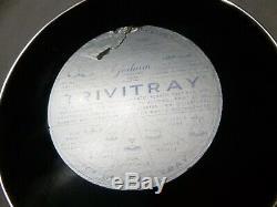 Gorham Sterling Silver Rim Laminé Trivitray Plastique Étiquette Originale