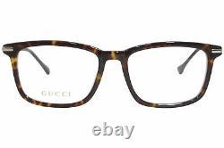 Gucci Gg0920o 002 Lunettes De Vue Cadre Optique À Jante Complète En Argent Pour Homme 53mm