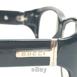 Gucci Lunettes De Montures De Lunettes Noir Ovale En Argent 807 Gg2503 Pleine Rimmed 130