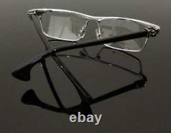 Hommes De Luxe Cadre Lunettes Full Rim Glasses Silver Black 005-ch