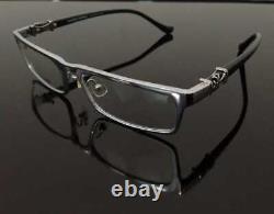 Hommes De Luxe Cadre Lunettes Full Rim Glasses Silver Black 008-ch