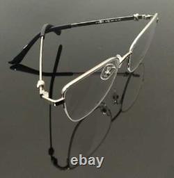Hommes De Luxe Lunettes En Métal Cadre Half Rim Glasses Silver Black Cart Metal