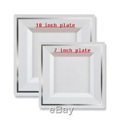 Les Plats En Plastique Jetables De Vaisselle De Dîner De Noce Choisissent 7 '' - 10 '