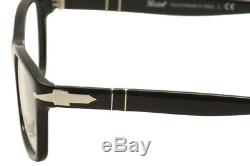 Lunettes 3012v 3012 / V 95 Noir / Argent Cerclée De 52 MM Cadre Optique De Persol Hommes