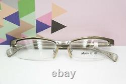 Lunettes Cadres Alain Mikli A0215-02 Silver Green Half Rim 51/17 140 Nouveau