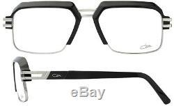 Lunettes Cazal Men 6020 002 Matte Black / Silver Cerclée Cadre Optique De 55mm