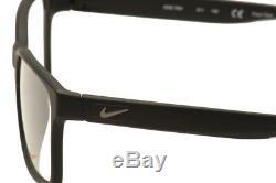 Lunettes De Nike 7091 011 Noir / Cristal / Argent Cerclée Cadre Optique 54mm