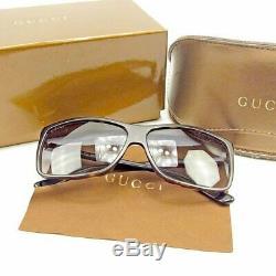Lunettes De Soleil Authentic Gucci Hommes Femmes Unisexe Full Rim Noir Marron Argent