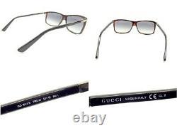 Lunettes De Soleil Gucci D'usage Lunettes Side Logo Full Rim Black Brown Silver Plastic