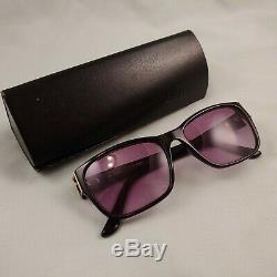 Lunettes De Soleil Vintage Fendi F973 Bordures En Plastique Wayfarer Complet Black Case Silver