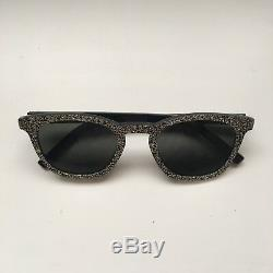 Lunettes De Soleil Ysl Silver Glitter Black Ray An Style Rim Square Round Plastic Frame