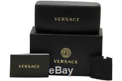 Lunettes De Versace 3245 5238 Noir / Argent Cerclée Cadre Optique De 55mm