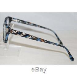 Lunettes De Vue Femmes 5479 6ct Bleu Marbre / Argent Monture Optique Full Rim 53mm