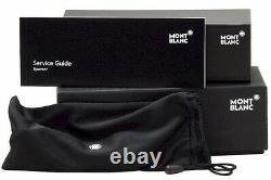 Lunettes De Vue Mont Blanc Mb0581 0581 A16 Cadre Optique Semi Rim Argent/havana 58mm