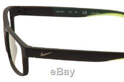 Lunettes De Vue Nike 7090 010 Monture Optique Jante Complète Noir / Vert / Argent 53mm
