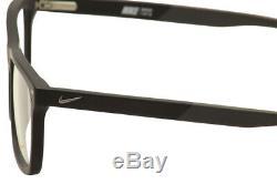 Lunettes De Vue Nike 7238 010 Noir / Gris Foncé / Argent Monture Optique Full Rim 54mm