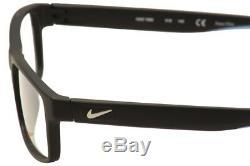 Lunettes De Vue Nike Hommes 7090 018 Noir / Bleu / Argent Monture Optique Full Rim 53mm