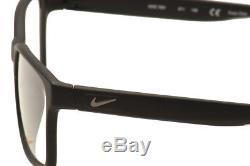 Lunettes De Vue Nike Hommes 7091 011 Noir / Cristal / Argent Cadre Optique Jante Complète 54mm
