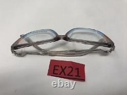 Lunettes De Vue Paradox Cadres P5059 10 Argent Bleu 55-14-140 Japon Full Rim Ex21