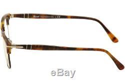 Lunettes De Vue Persol 8359v 8359 / V 108 Caffe / Silver Cadre Optique Jante Complète 51mm