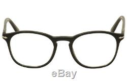 Lunettes De Vue Persol Hommes 3007v 3007 / V 95 Noir / Argent Cadre Optique Jante Complète 50mm