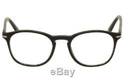 Lunettes De Vue Persol Hommes 3007v 3007 / V 95 Noir / Argent Monture Optique 50 MM
