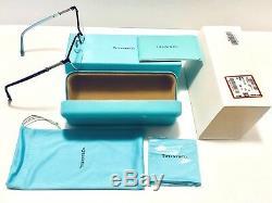 Lunettes De Vue Tiffany & Co. Tf 1111b 6097 Œil De Chat Noir Avec Demi-jante Argentée