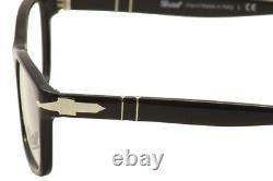 Lunettes Persol Homme 3012v 3012/v 95 Noir/argent Full Rim Optical Frame 52mm