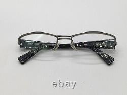 Lunettes Vintage Alain Mikli Al0656 0003 Black Silver Moitié Jante Taille M 90er