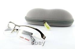 Mikli Par Mikli Glasses ML 1204 M06d 56 18 135 Half Rim Eye Frame Silver Black