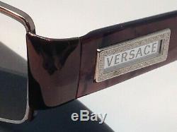 Montures De Lunettes Versace 1140 1013 51-17-135mm Montures Marron Avec Demi-jante Et Étui