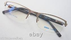 Nika Demi Rim Glasses Socket Metal Silver Plastik-federbügel Sporty Taille M